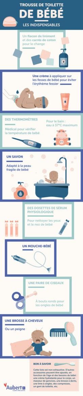 Que faut-il mettre dans la trousse de toilette de bébé ?