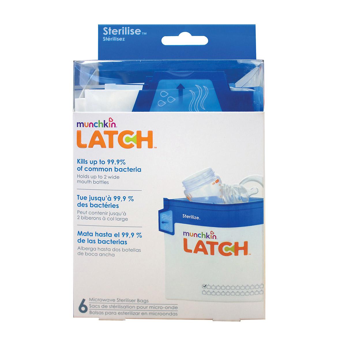 6 sachets stérilisateurs LATCH   de Latch Munchkin
