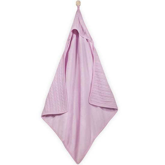 Cable Cape de bain Rose  de Jollein