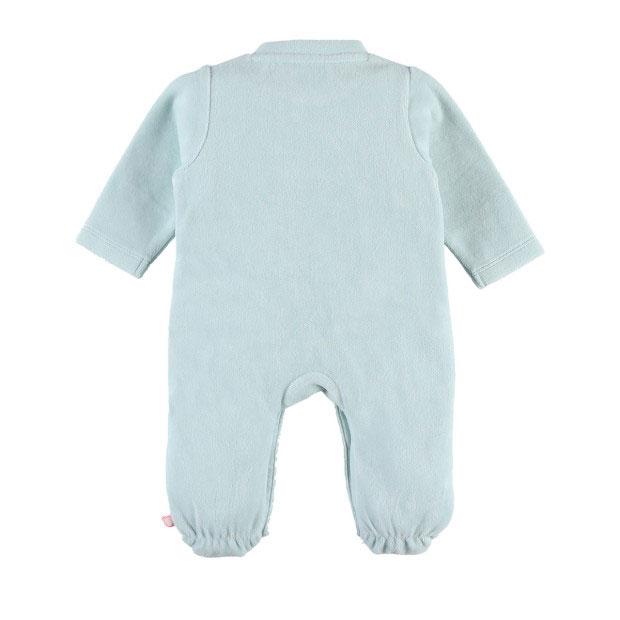 Anna & Milo Pyjama Velours Milo Vert 0 mois de Noukies