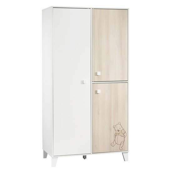 Winnie l'Ourson armoire 3 portes Beige / Blanc  de Sauthon Baby's Sweet Home
