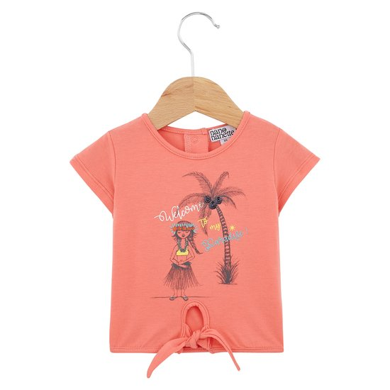 T-shirt nœud collection Sunny Paradise Fille Orange Pulpe  de Nano & nanette