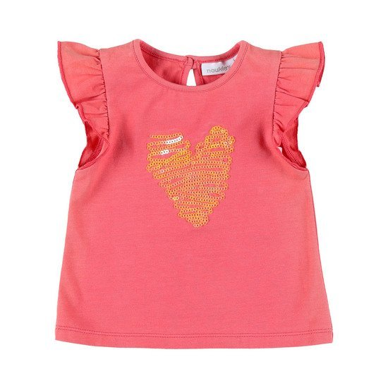 T-shirt Coeur collection Peps Girl Rose  de Noukies
