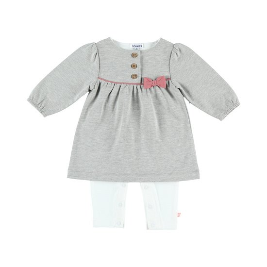 Combinaison robe collection Cocon Fille Hiver Gris  de Noukies