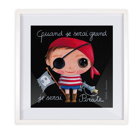 Affiche Pirate 30x30 de Label Tour
