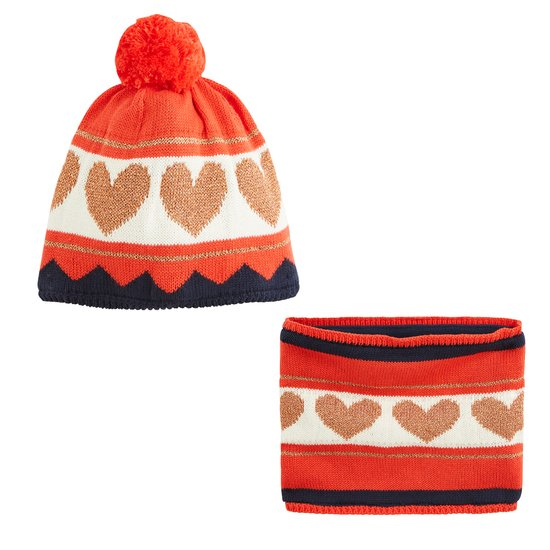 Bonnet + écharpe collection Pop Cargo Fille Rouge  de Marèse
