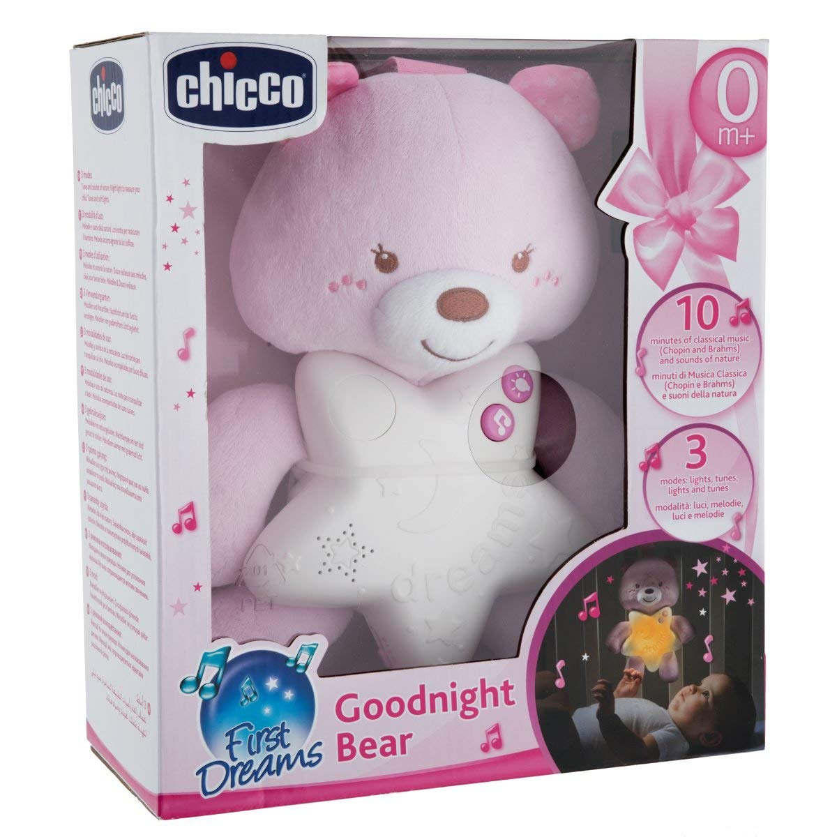 Veilleuse ourson Rose  de Chicco