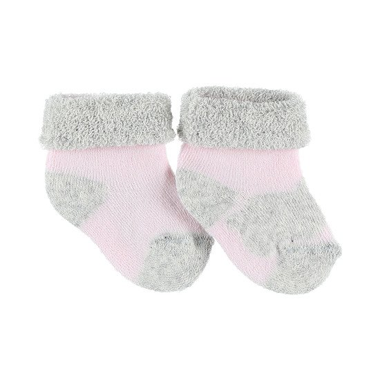 Chaussettes mixtes Collection Cocon Eté Rose/gris  de Noukies
