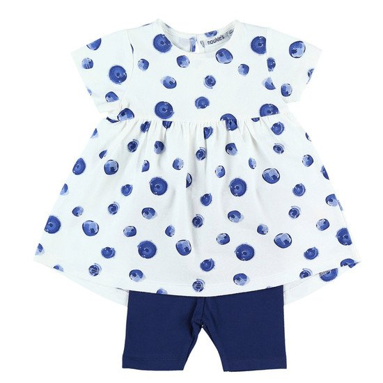 Robe + legging collection Bord de mer été 2019 Fille Bleu/Blanc  de Noukies