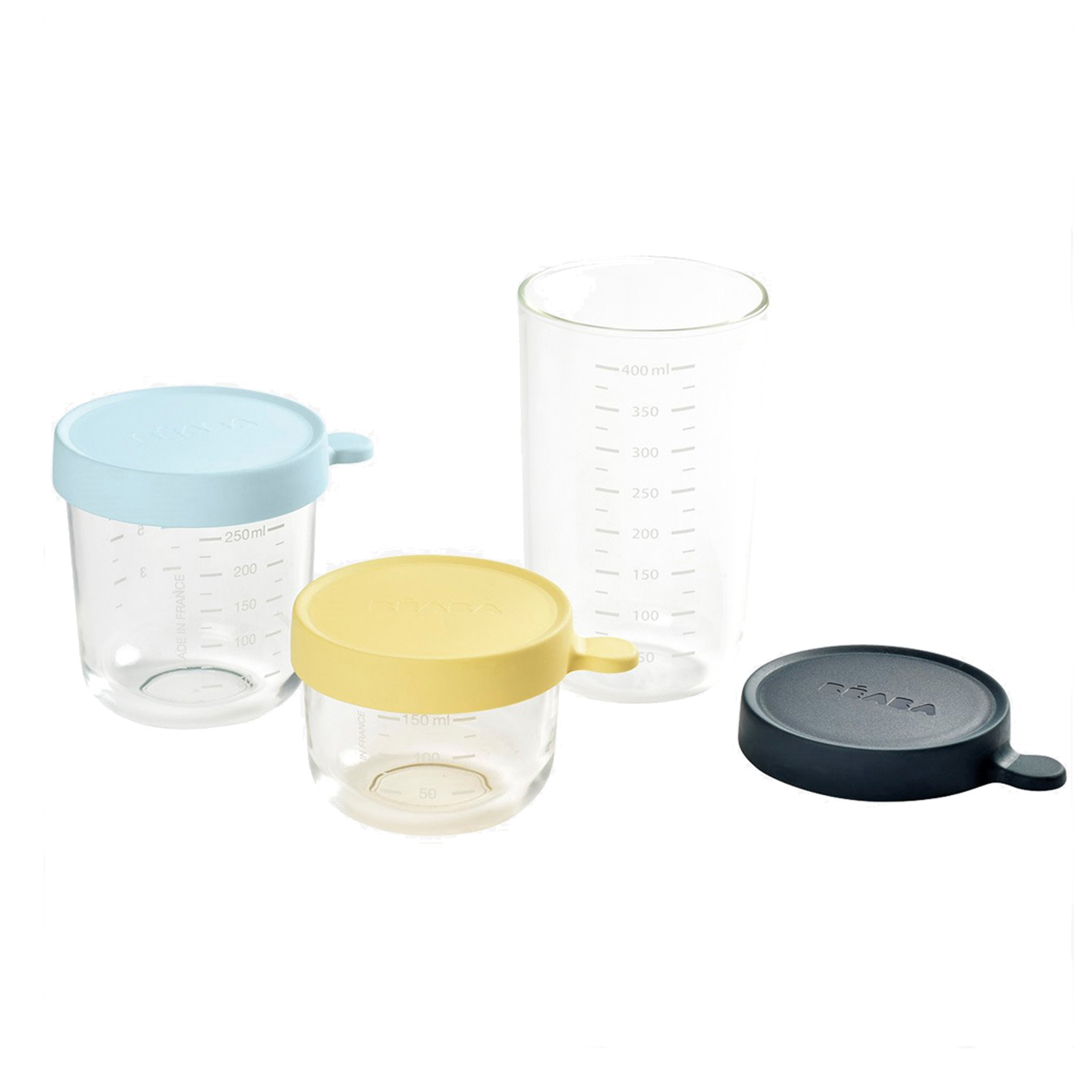 Coffret 3 portions verre   150-250-400 ml de Béaba