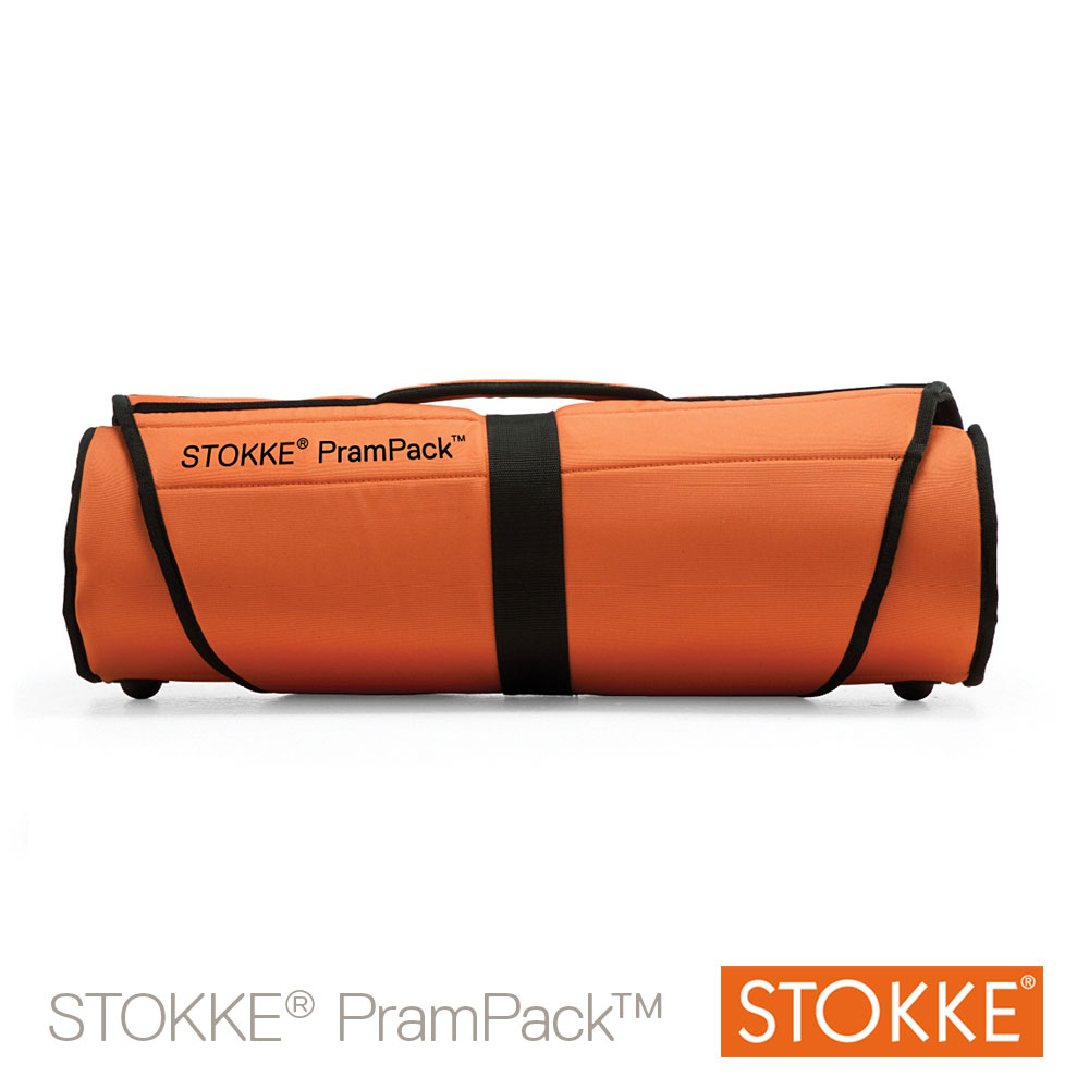 PramPack™ sac de transport Noir / Orange  de Stokke®
