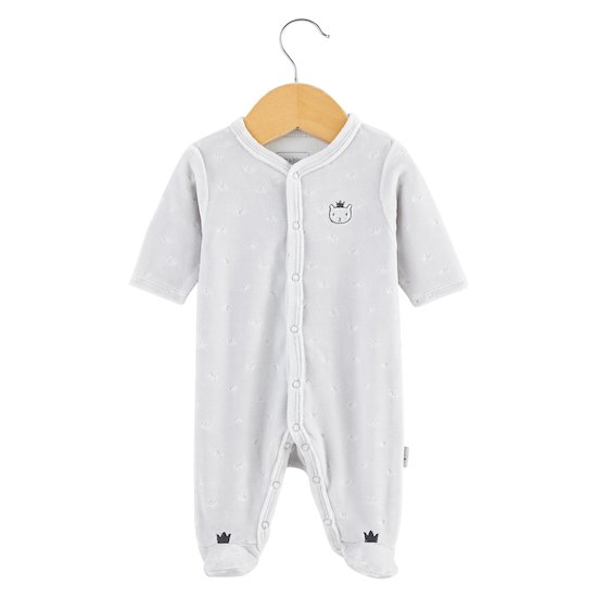 Pyjama Royal Baby Gris Plush  de P'tit bisou