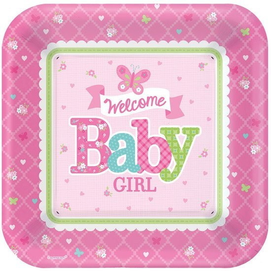 8 assiettes en carton welcome little one