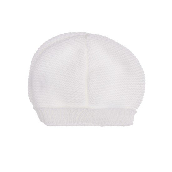 Bonnet collection Tricot Blanc  de P'tit Bisou Trousseau