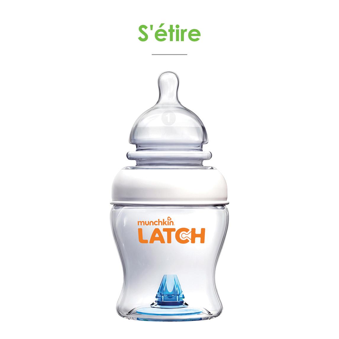 Set 3 biberons LATCH  120 ml de Latch Munchkin
