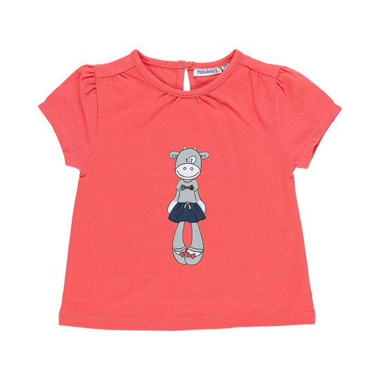 T-shirt manches courtes collection Bord de mer Fille Rouge  de Noukies