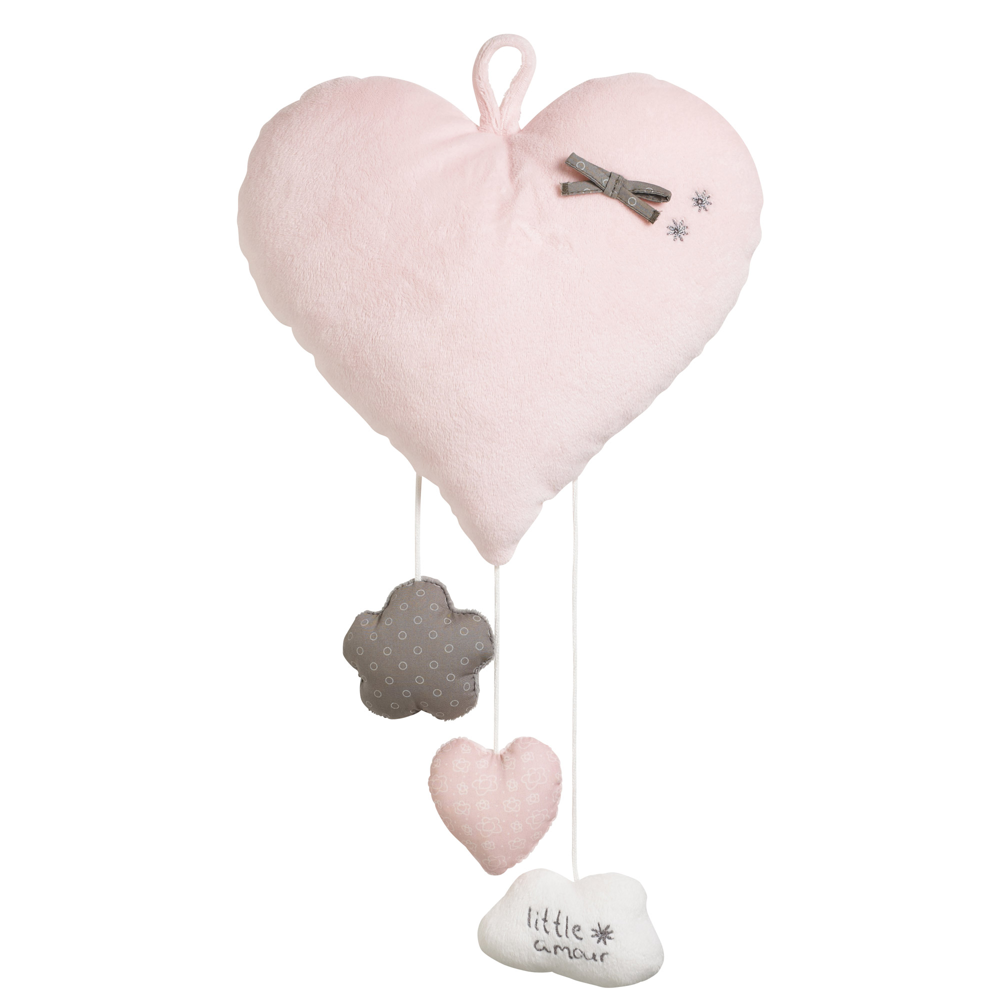 Lilibelle suspension décoration murale Rose  de Sauthon Baby Déco