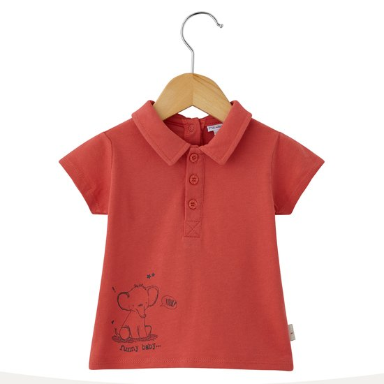 Funny Baby polo Orange  de P'tit bisou