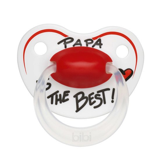 Sucette silicone Papa is the Best 16m+ de Bibi