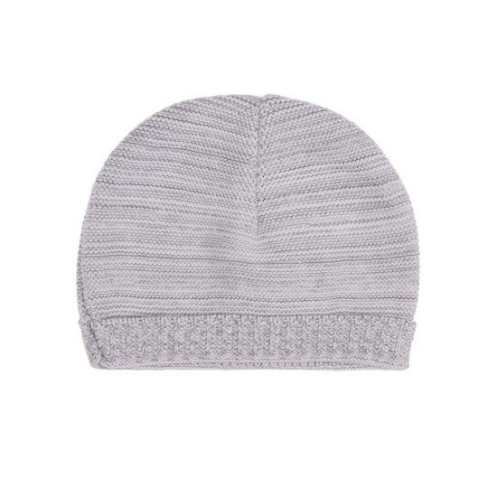 Bonnet bio collection Tricot Gris  de P'tit Bisou Trousseau