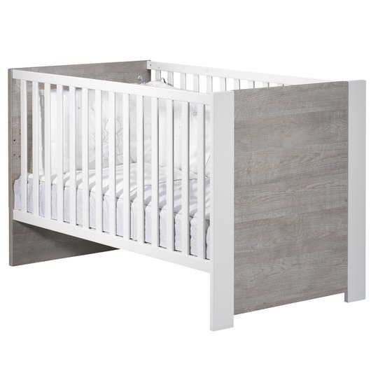 Loft lit Little Big Bed 70x140 Gris/Blanc  de Sauthon Baby's Sweet Home