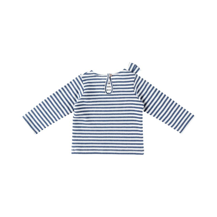 Sweat collection Bord de mer Fille Bleu / Blanc  de Noukies