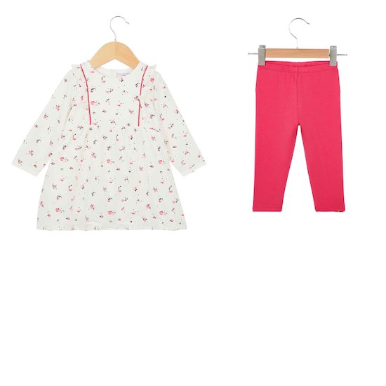 Ensemble Tee-shirt + pantalon Love flower  de P'tit bisou