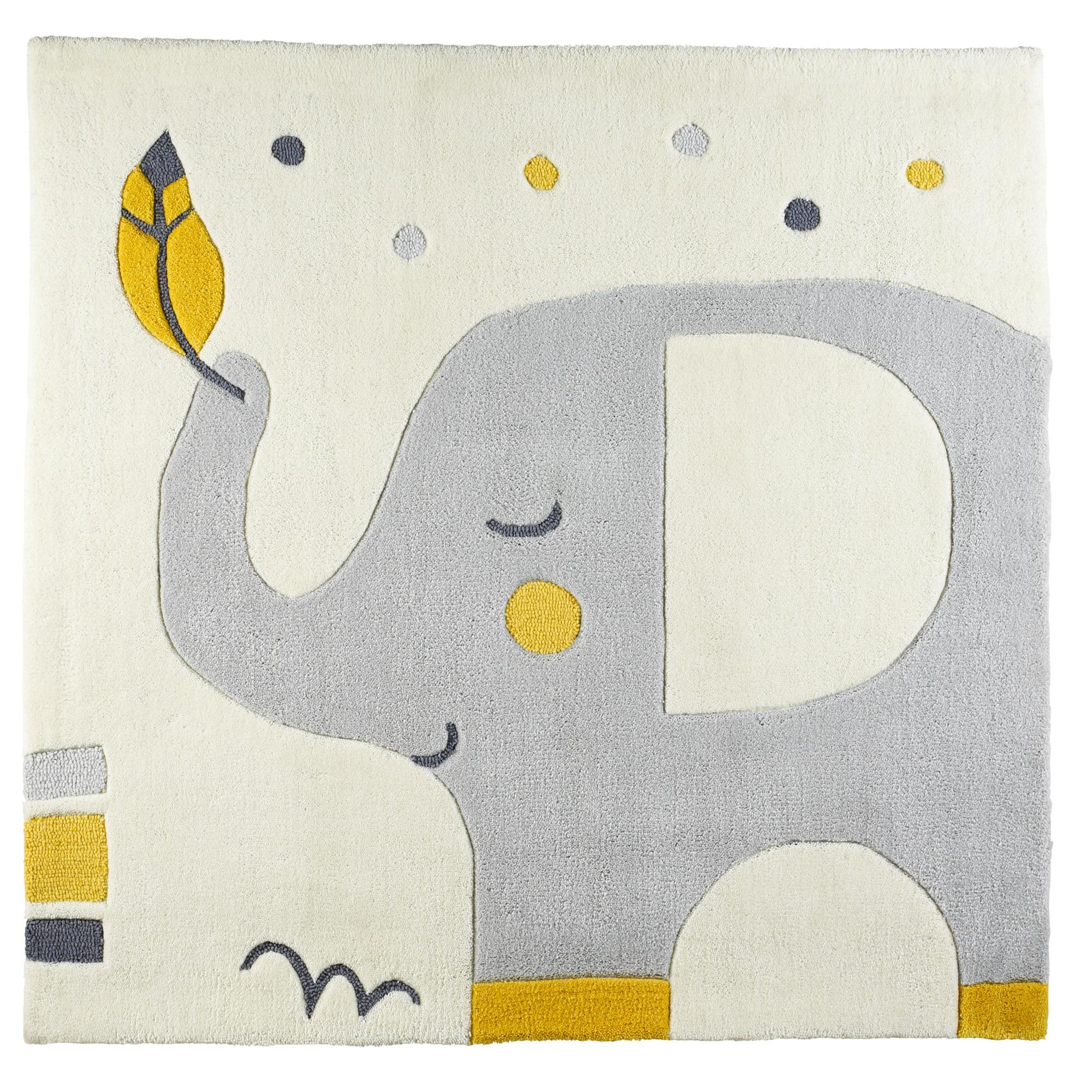 Tapis Chambre Bébé Mixte babyfan tapis de chambre 110 x 110 beige 110x110 cm de