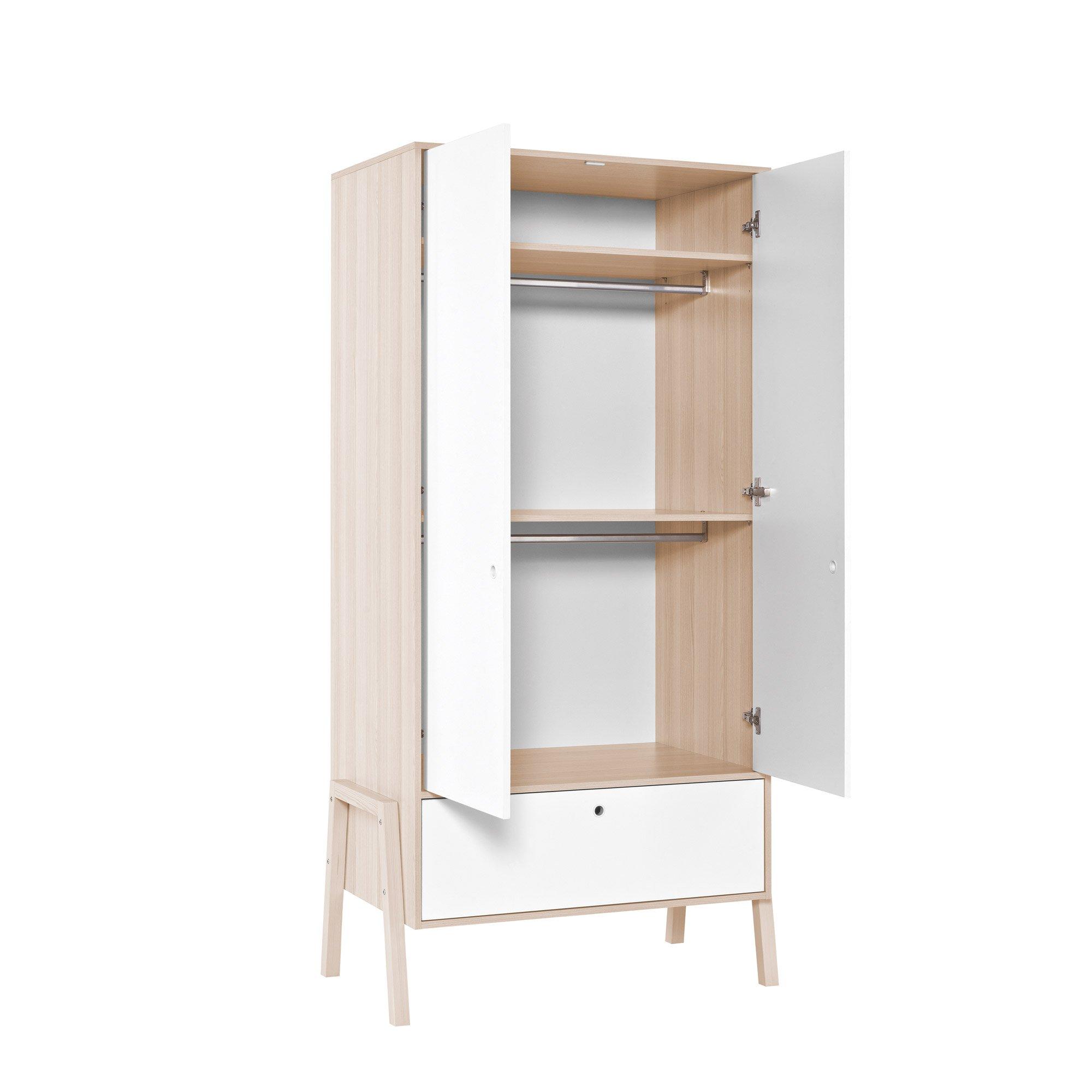Spot armoire 2 portes Blanc / Acacia  de Vox