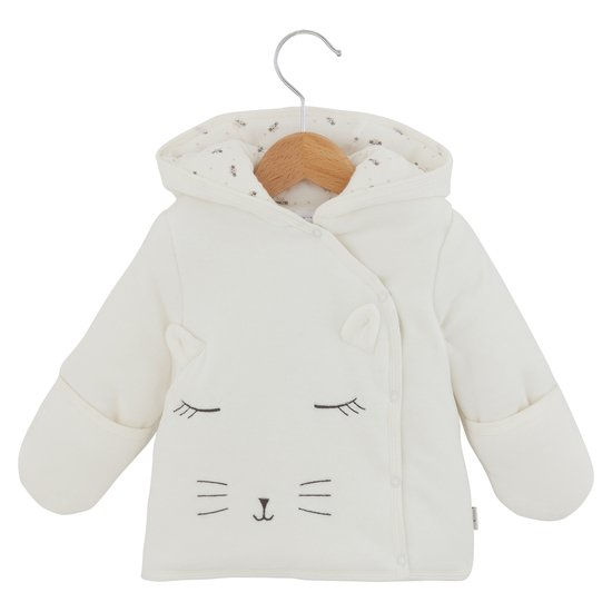 Manteau collection Mini Cat Blanc Taille Unique de P'tit Bisou Trousseau