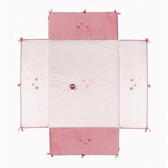 Adèle Valentine Cube De Parc Rose De Nattou Tapis Déveil Aubert