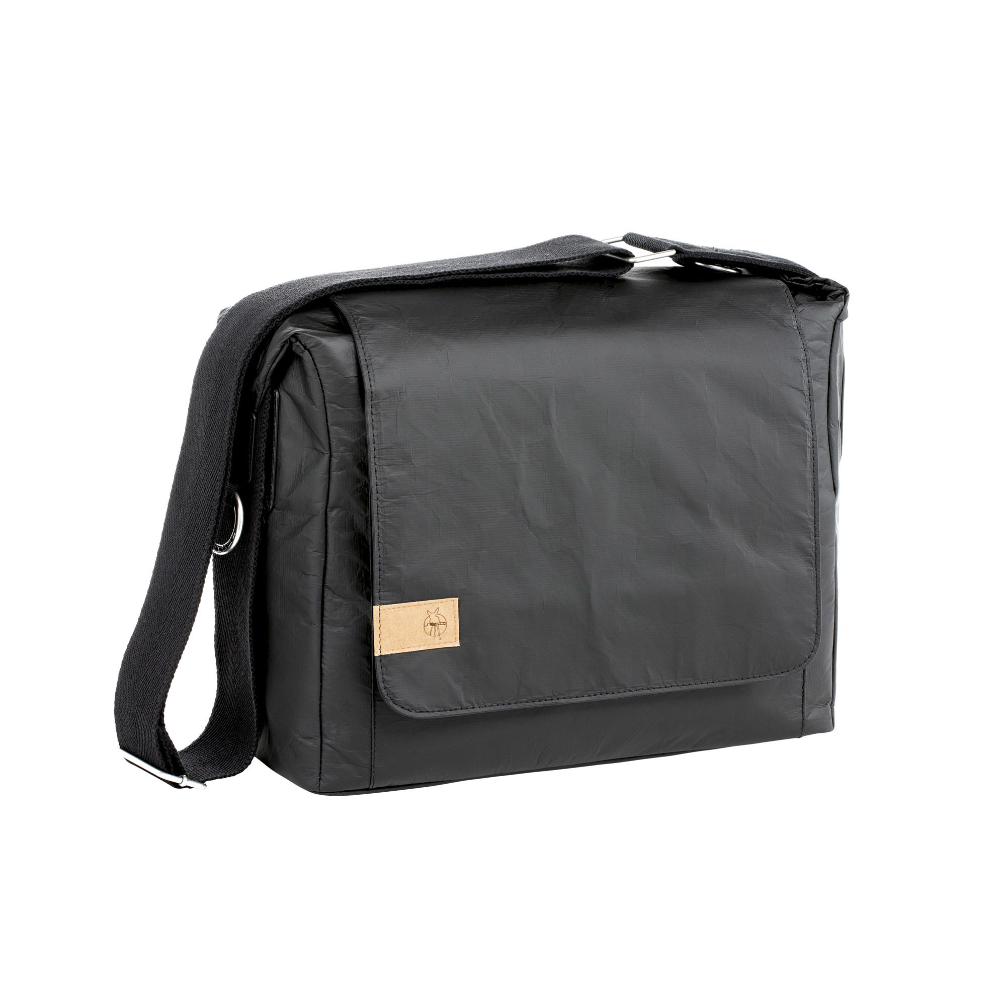 Sac Green Label messenger bag Tyvek Noir  de Lässig