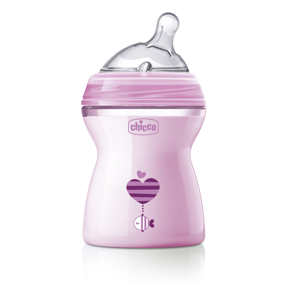 Biberon NaturalFeeling Rose 250ml de Chicco