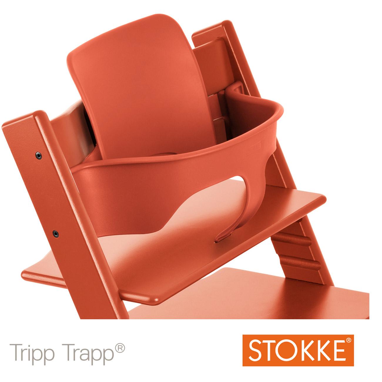 Baby Set Tripp Trapp Patin Orange Lava De Stokke Chaises