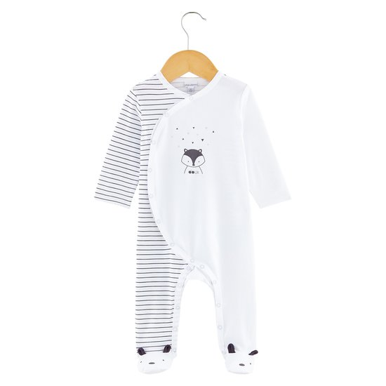Pyjama collection Little Fox Blanc  de P'tit Bisou Trousseau