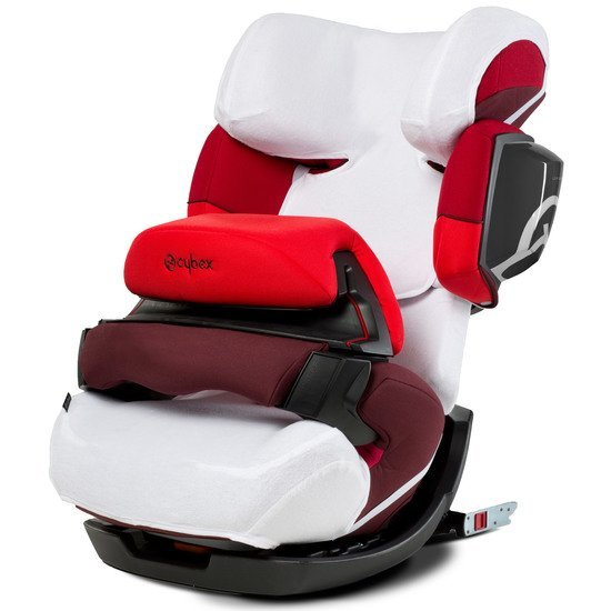 Housse été Pallas 2-Fix & Solution X2 Fix Blanc  de Cybex