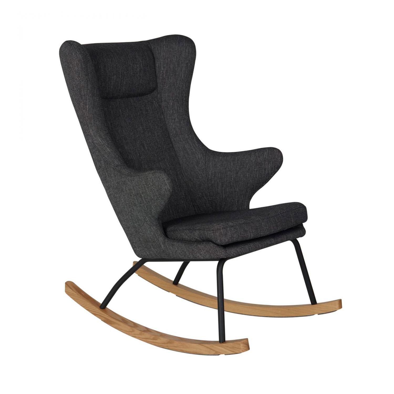 fauteuil à bascule adulte de luxe luxe noir de quax