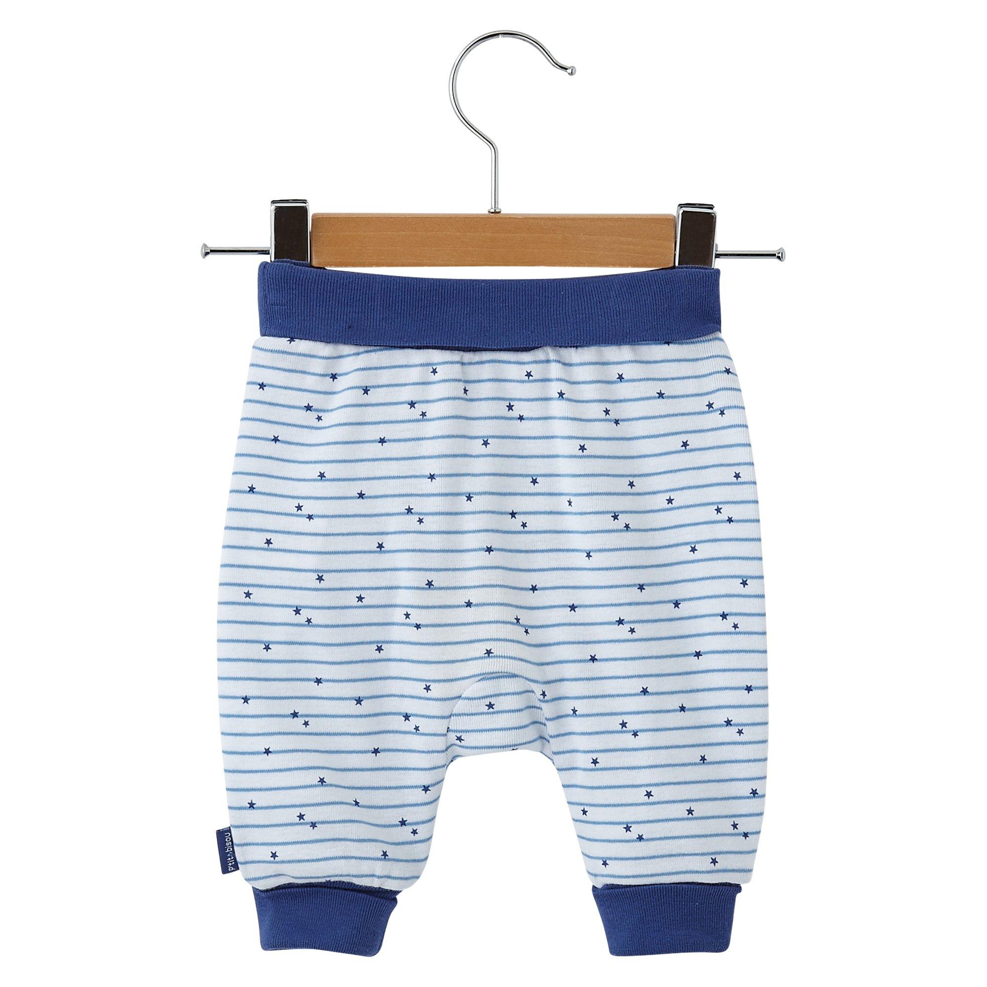 Pantalon collection Étoiles Garçon Bleu  de P'tit Bisou Trousseau