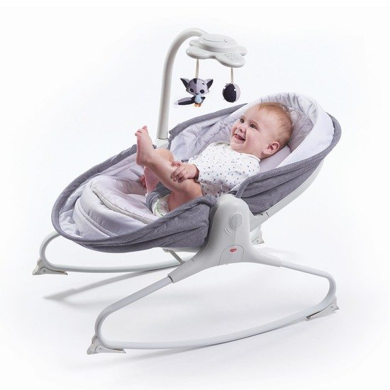 Transat Rocker Napper Evolution Gris chiné  de Tiny Love