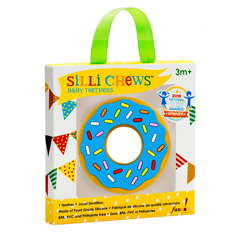 Anneau de dentition Donut bleu  de Silli Chews