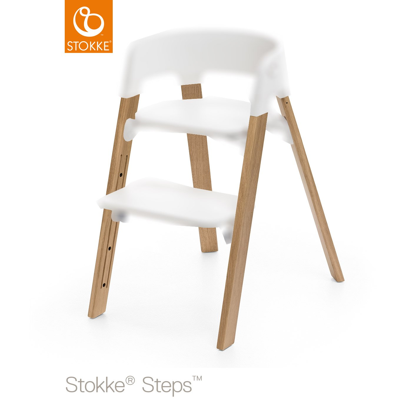 StepsTM Pieds Chene Naturel De StokkeR Chaises Hautes Evolutives