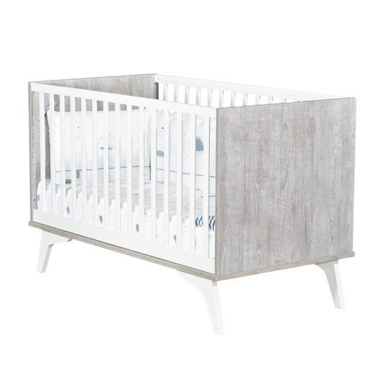 Neo Little Big Bed 70x140 Gris Loft  de Sauthon Baby's Sweet Home