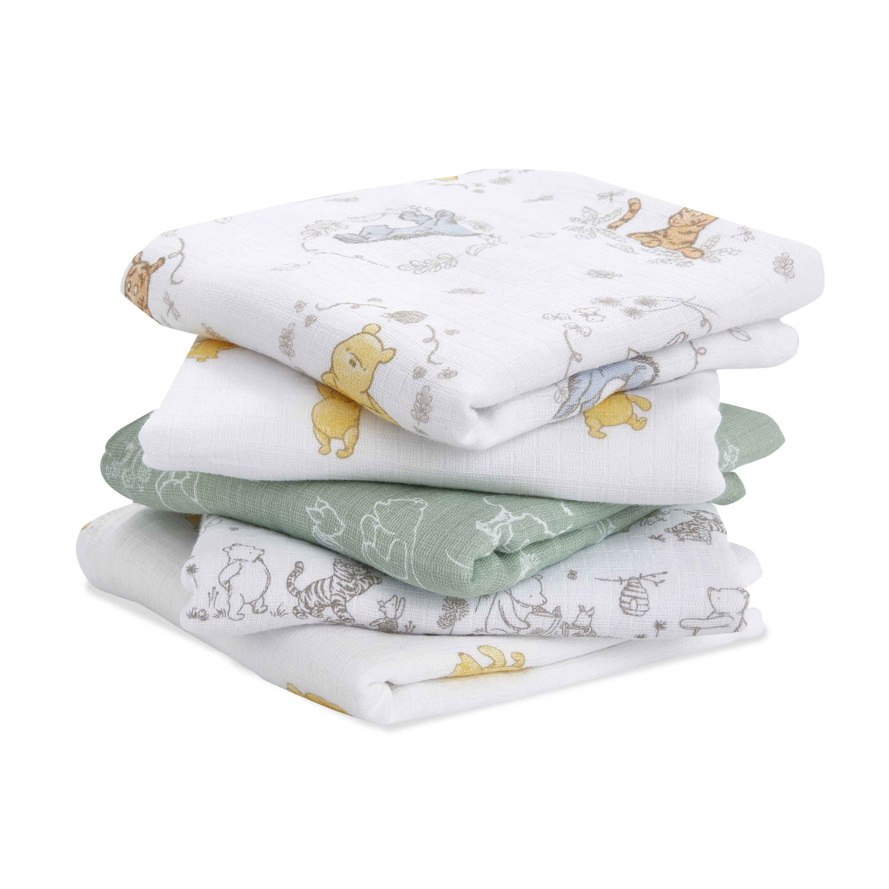 Lot de 5 langes Musy 60x60 Winnie  de aden + anais essentials