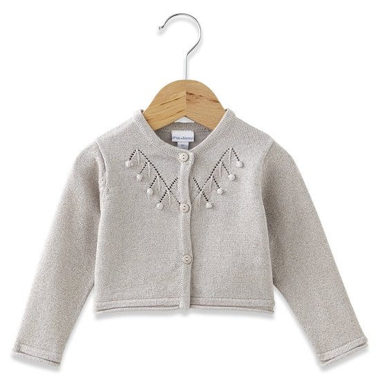 Cardigan collection Charline Grey taupe  de P'tit bisou