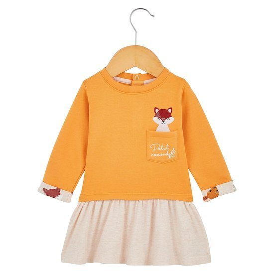 Robe avec poche Orange  de P'tit bisou