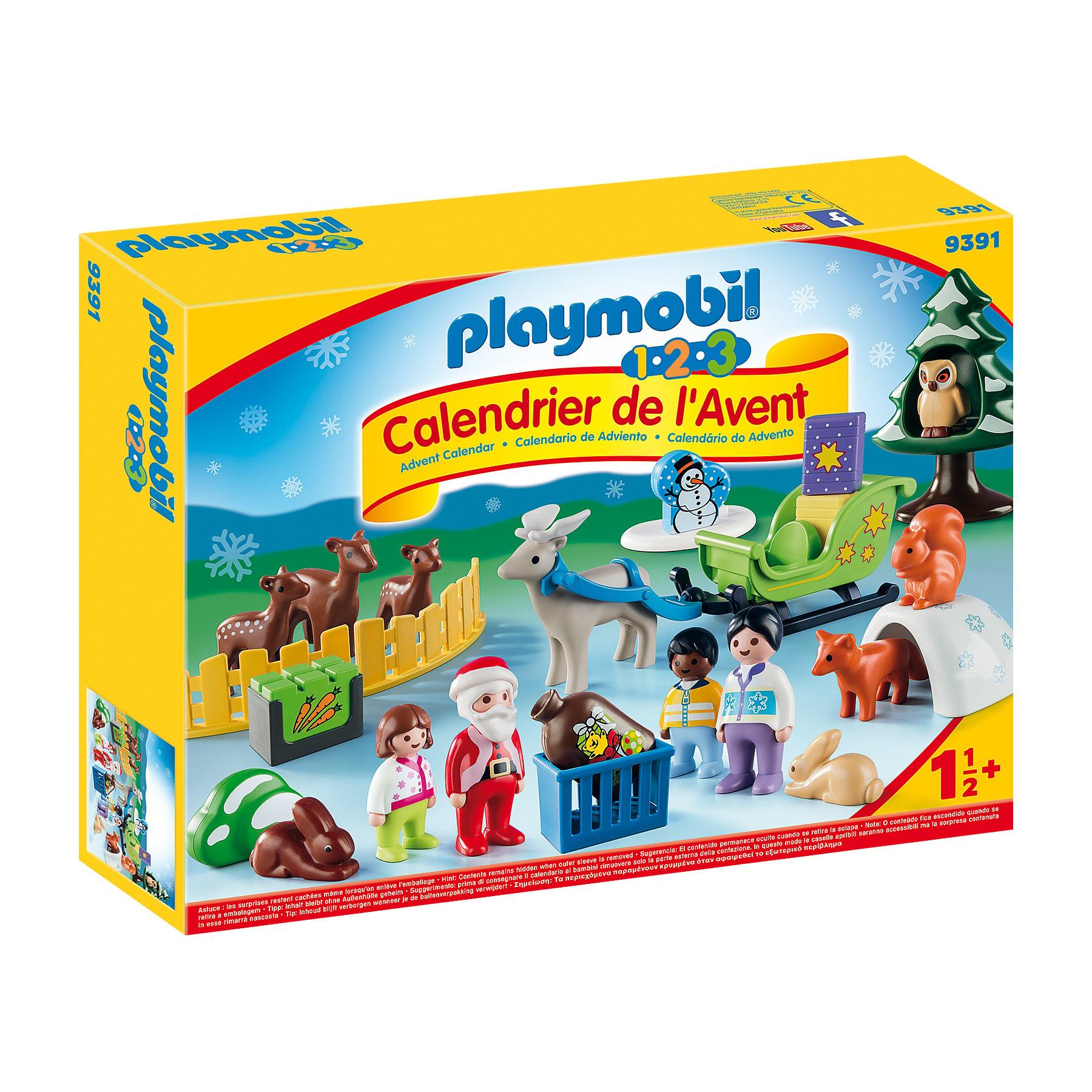 Calendrier de l'avent 1.2.3 Père Noël Multicolore de Playmobil
