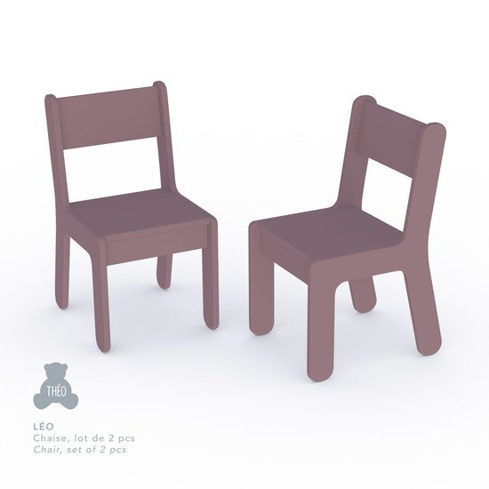 Léo lot de 2 chaises Figue  de Théo