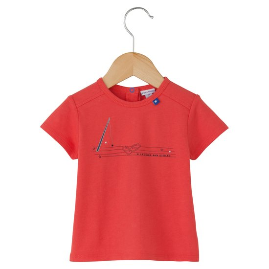 T-shirt collection Little Navy Rouge  de P'tit bisou