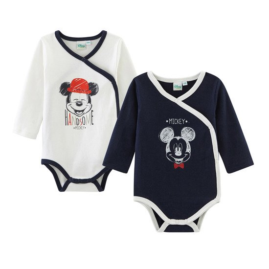 Mickey Lot de 2 bodies manches longues