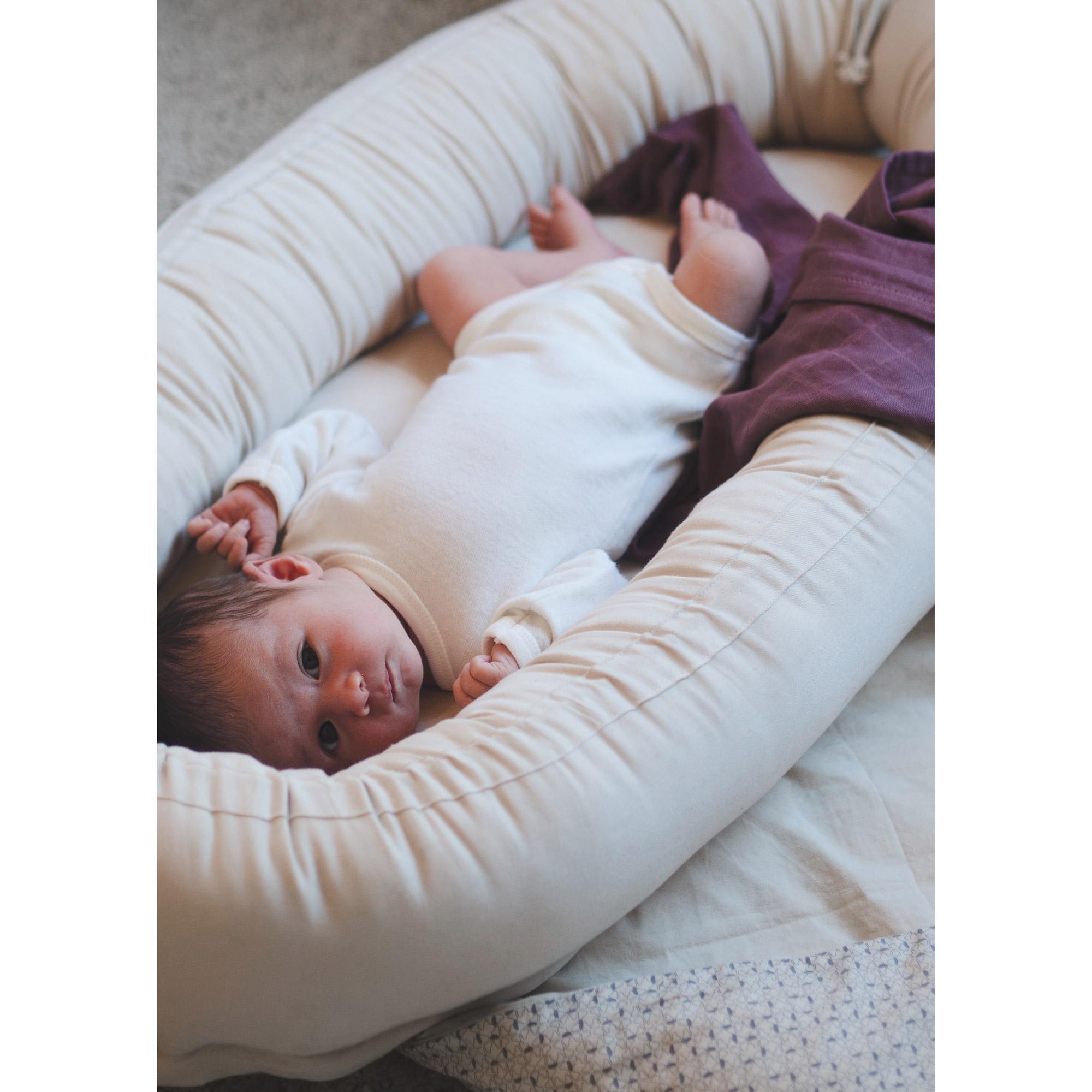 Babynest coton bio Leafed White  de Filibabba